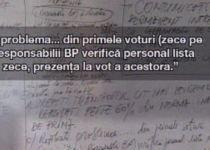 Tablă uitată neştearsă: PDL a avut ordin să-i asigure voturi Elenei Băsescu (FOTO)