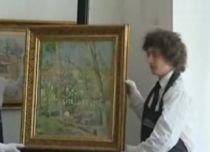 """""""Tăietorul de Lemne"""" al lui Camile Pissarro, cel mai scump tablou scos la licitaţie în România (VIDEO)"""
