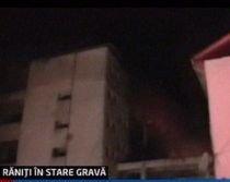 Explozie urmată de incendiu la Vişeu de Sus. Şase persoane sunt rănite (VIDEO)