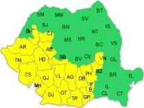 Atenţionare Cod galben de vijelii, pentru 21 de judeţe şi Bucureşti