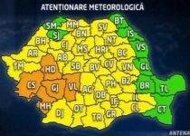 Codul portocaliu de ploi a expirat. Codul galben rămâne în vigoare: Vezi prognoza meteo