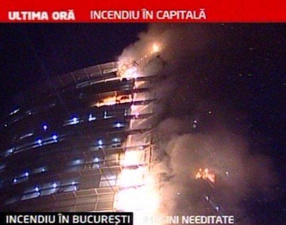Incendiu devastator în centrul Capitalei. Onţanu nu exclude ipoteza unui act intenţionat (VIDEO)