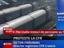 Proteste la CFR. Impiegaţii de mişcare din Gorj au refuzat să mai muncească