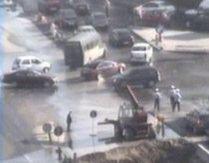 Ce ne mai aduce Pasajul Băneasa. Inundaţii şi trafic de coşmar miercuri în zona lucrărilor (VIDEO)