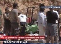 Portugalia. Un om a murit şi şase sunt răniţi după o alunecare de teren pe o plajă (VIDEO)