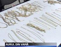 Captură record la Vama Giurgiu. O femeie vroia să iasă din ţară cu şase kilograme de aur