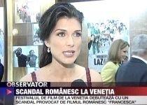 """Scandal la Festivalul de film de la Veneţia din cauza peliculei româneşti """"Francesca"""" (VIDEO)"""