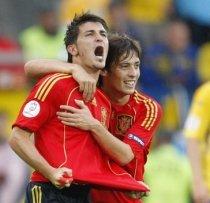 Spania- Belgia 5-0: Silva şi Villa reuşesc duble, iar ?furia roja? îşi menţine recordul de victorii. Rezultate calificări CM2010