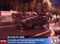 Circulaţia tramvaiului 34, blocată din cauza unui accident