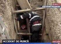 Doi muncitori, surprinşi de un mal de pământ la Puchenii Moşneni (VIDEO)