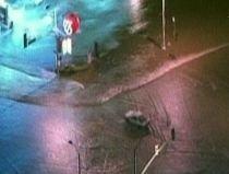 Străzi inundate în Los Angeles, după ce o conductă de apă s-a spart (VIDEO)