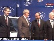 """Lansarea Ford: Geoană, lăsat pe tuşă, Băsescu """"galant"""" cu Tăriceanu în locul în care, acum un an, îl critica"""