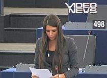 Elena Băsescu, prima intervenţie în Parlamentul European: Discurs de un minut, citit şcolăreşte (VIDEO)