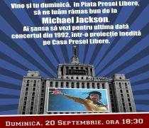 Jurnalul Naţional îi cheama pe fanii Michael Jackson la Ultimate Tribute ? o proiecţie pe Casa Presei Libere