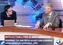 Intelectuali pro şi anti-Băsescu. Românii, cei mai inteligenţi din Europa?