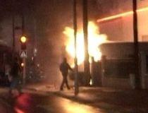 Un autobuz românesc a luat foc în parcare, în apropiere de Roma (VIDEO)