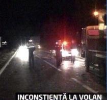 Infotrafic. Un jeep a acroşat un TIR şi a lovit alte două maşini. Patru persoane au fost rănite