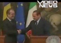 Premierul Italiei, nepoliticos cu Emil Boc (VIDEO)