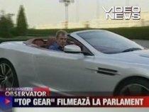 Primele imagini cu echipa Top Gear, în România (VIDEO)