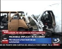 Microbuz lovit frontal de un autoturism, la Orăştie. O persoană a murit şi patru sunt rănite