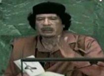 Muammar Gaddafi se dă în spectacol la summit-ul ONU (VIDEO)