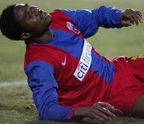 Emeghara s-a întors la Steaua. Nigerianul este refăcut şi speră la o revenire miraculoasă pe teren