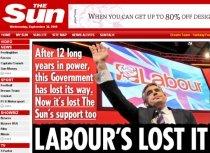 """""""The Sun"""" schimbă tabăra: Partidul Laburist a pierdut sprijinul nostru"""
