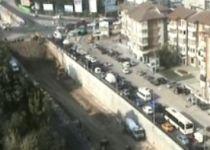 Noi restricţii de circulaţie, în zona pasajului Băneasa (VIDEO)
