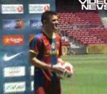 David Villa trece testul medical şi este prezentat de Barcelona în faţa a 25.000 de fani (VIDEO)
