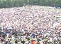 Harghita. Aproape 100.000 de pelerini au participat la ceremonia de Rusalii, din Şumuleu Mic (VIDEO)