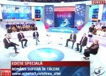 Ştirea Zilei, ediţie specială: Românii suferă în tăcere