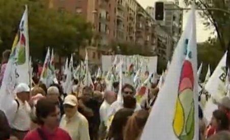 Prostest pe străzile Madridului faţă de noua lege a avorturilor