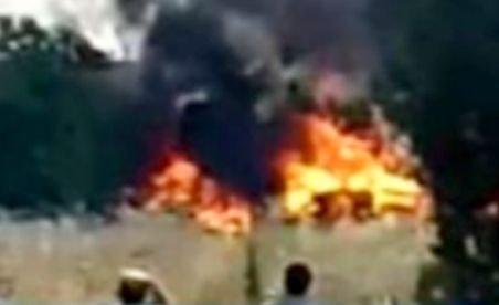 O tabără improvizată în care se aflau români a ars în Spania (VIDEO)