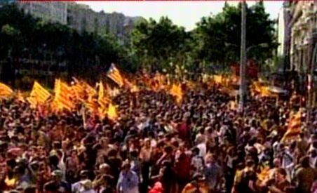 Spania. Peste un milion de oameni au manifestat pentru autonomia Cataloniei (VIDEO)