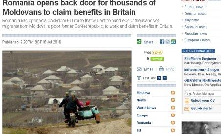 Presa britanică: România bagă moldovenii în UE pe uşa din spate