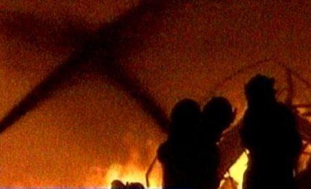 Un incendiu a distrus câteva tone de furaje, în judeţul Timiş