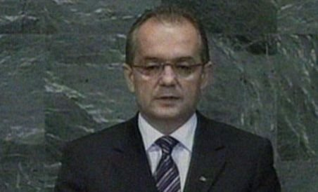 Boc a avut nevoie de un podium pentru a vorbi la tribuna ONU (VIDEO)