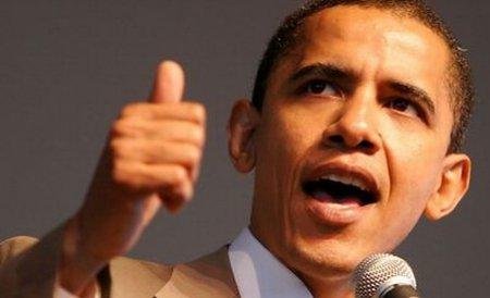 Barack Obama, întrerupt de protestatari în timpul unui discurs electoral