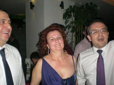 Fotografii cu Emil Boc şi Traian Băsescu, de la petrecerea de Revelion