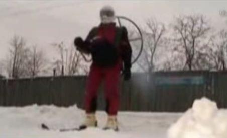 Schiurile cu elice, inventate de un bărbat din Rusia