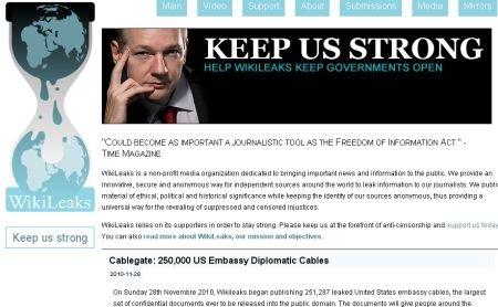 Site-ul WikiLeaks, nominalizat la premiul Nobel pentru Pace