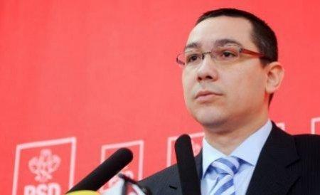 Ponta: Nu poţi scoate România din criză cu miniştri făcuţi la seral