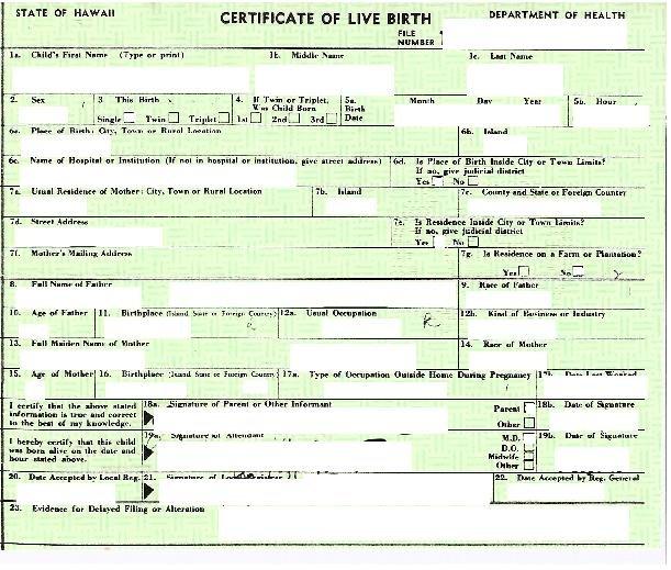 Expert CIA: Certificatul de naştere al lui Obama este fals