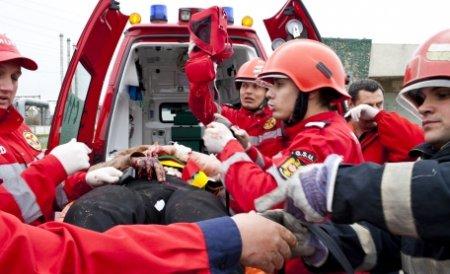 Cluj-Napoca. Un şofer grăbit a accidentat maşina Ambulanţei