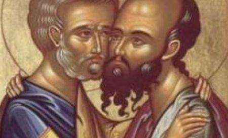 Sfinţii Petru şi Pavel. Mai mult de 450.000 de români îşi serbează onomastica