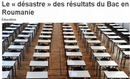 """""""Măcelul"""" de la BAC, în presa franceză: Rezultatele sunt ruşinoase. Elevii, campioni la trişat"""