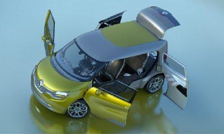 Renault a realizat modelul Frendzy, un nou concept electric utilitar şi de familie