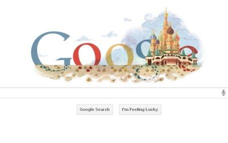 Catedrala Sfântul Vasile din Moscova, sărbătorită de Google printr-un doodle