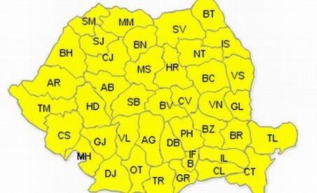 Cod galben de caniculă în toată ţara. Vezi prognoza meteo pe următoarele zile