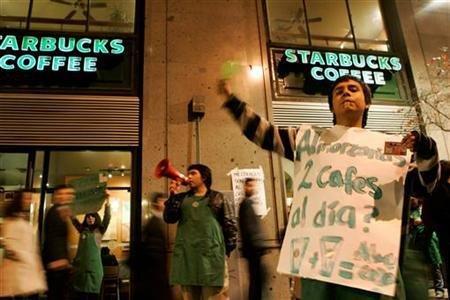 Grevă la o cafenea Starbucks din Chile. Angajaţii vor salarii mai mari